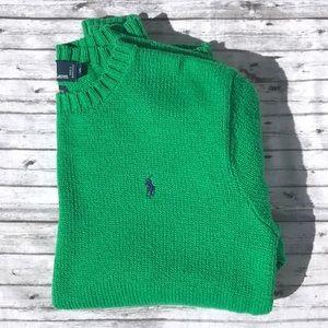 Men's Polo Ralph Lauren Green Sweater Sz M